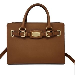 Michael Kors Hamilton Satchel Brown